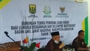 Bimtek Badan Amil Zakat Nasional dan Kejaksaan Negeri Kab Sukabumi bagi penerima dana Hibah