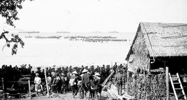 Pendaratan Pasukan Belanda di Pantai Bone pada tahun 1905