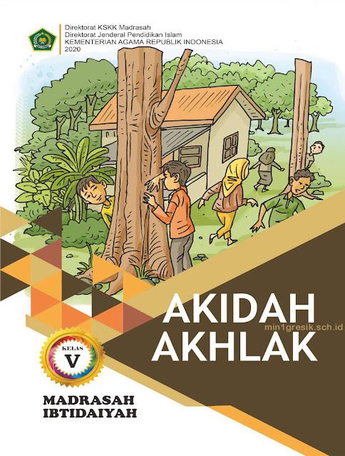 buku pelajaran akidah akhlak kelas 5 madrasah ibtidaiyah terbitan kskk kemenag ri tahun 2020
