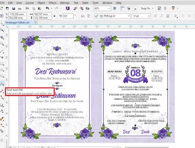 Undangan Pernikahan Dengan CDR Gratis