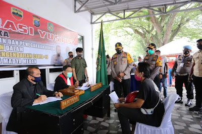 Gelar Razia Operasi Yustisi, Kapolda Sumut Tegur Masyarakat yang Tidak Pakai Masker