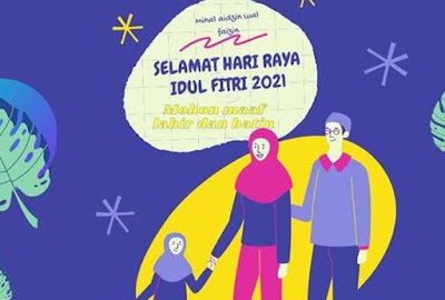 Poster Ucapan Selamat Hari Raya Idul Fitri 1442 H - 01