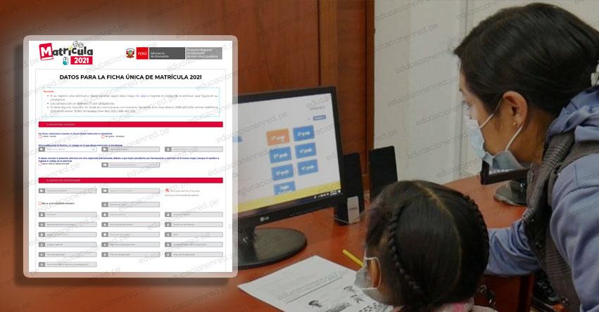 MINEDU: Inscríbete al proceso de matrícula para inicial y primaria 2021