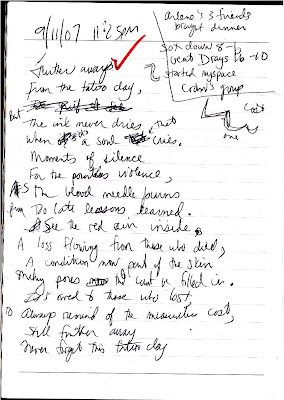 My Life Scanned: Journal Entry from 9/11/07, 11:25 PM