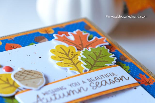 Sunny Studio Stamps: Autumn Splendor Beautiful Autumn Card by Wanda Guess