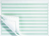 green-bar, fanfold paper