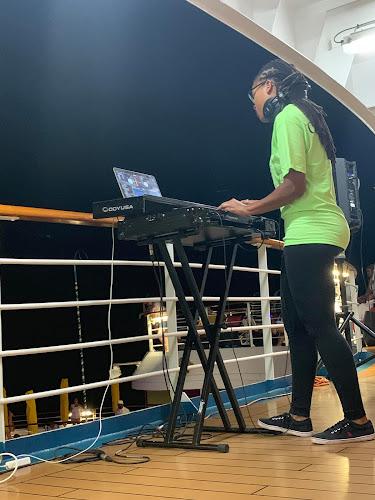 DJ on Lido Deck (Carnival Breeze)