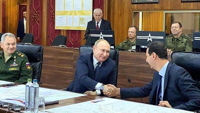 Conversaciones entre Putin y Assad en Damasco