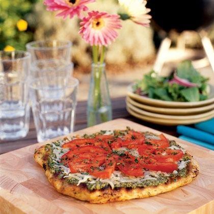 Grilled Pesto Pizza Recipe
