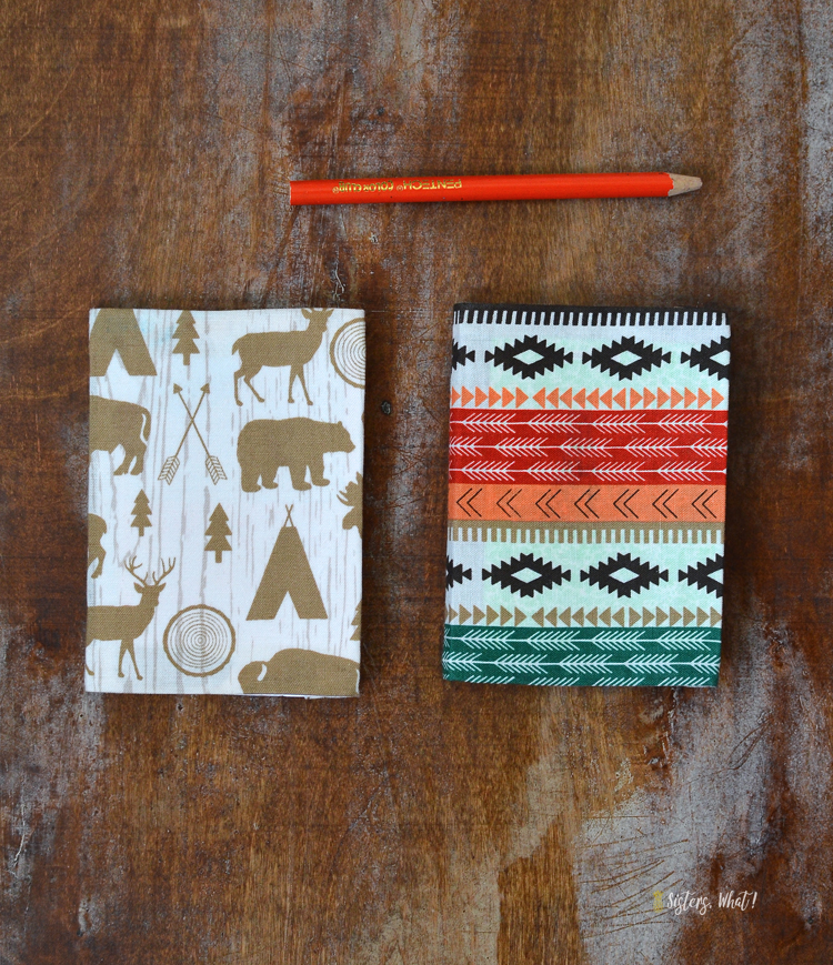 fabric covered notebook diy