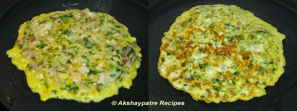 cook the omlette from both sides