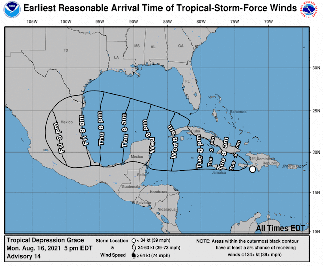Grace enfilada sobre Yucatán: ocasionará fuertes lluvias, vientos y oleaje