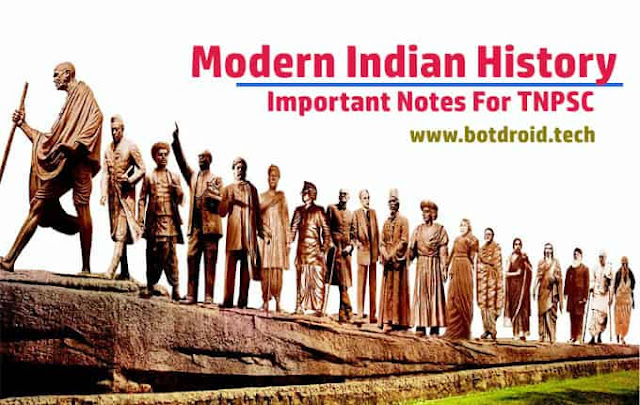Modern Indian history notes pdf