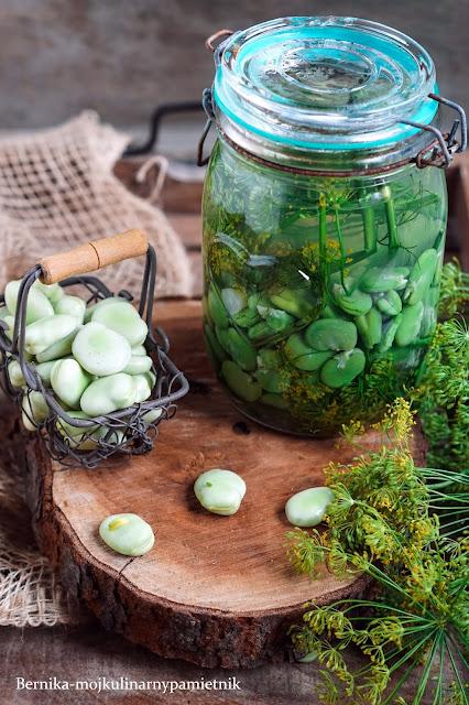 kiszenie, bob, bób, kiszonka, warzywa, lato, marynowanie, bernika, kulinarny pamietnik