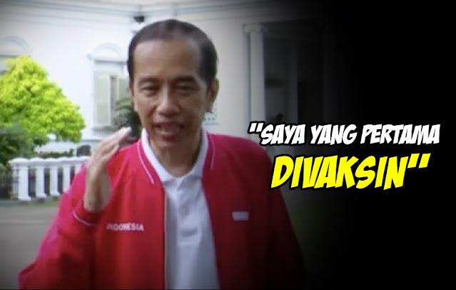 Pastikan Vaksin Covid-19 Aman, Jokowi: Saya Tegaskan Lagi, Saya yang Akan jadi Penerima Pertama