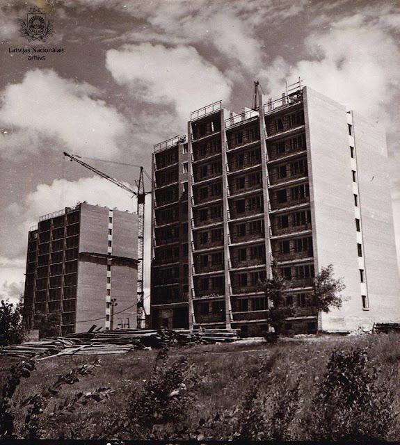 1968 год. Рига. Югла-3. Строительство 12-ти этажных жилых домов