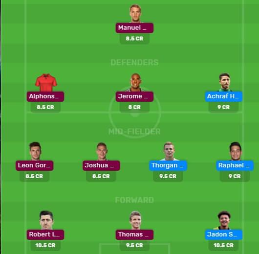 DOR vs BAY MyTeam11 and Dream11 Fantasy Football Team for Matchday 28 of Bundesliga 2019/20