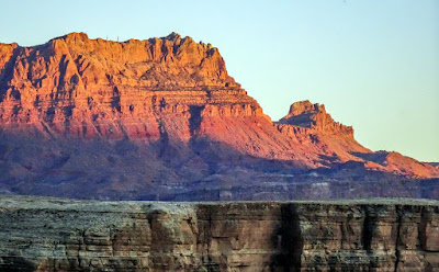 The Rock Formations of Lees Ferry and Sunset Colors on Lake Powell, AZ