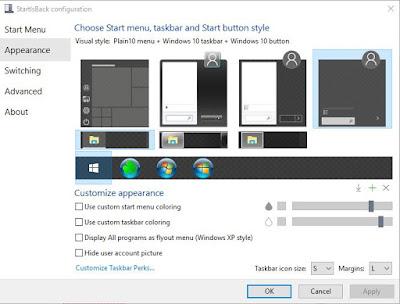 Cara Mengubah Tampilan Start Windows 10 Seperti Windows 7, Startisback
