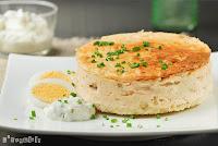 Tarta de queso y salmón