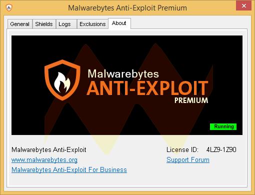 Malwarebytes Anti-Exploit Premium 1.05.1.1015