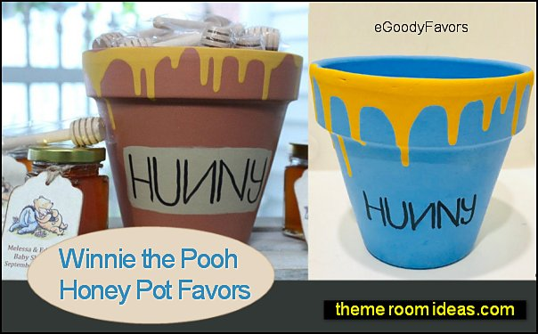 Winnie the Pooh Honey Pot Favor with Bees Winnie the Pooh Honey Pot Favors Winnie the Pooh party