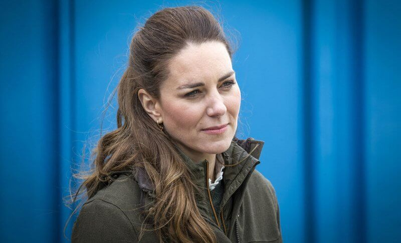 Kate Middleton wore- a new dobby cotton blouse by Scottish brand Brora, and new woodcock advanced jacket by Seeland