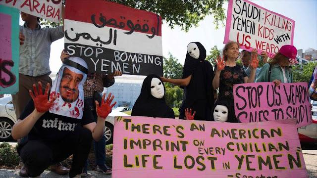 Activistas en EEUU denuncian venta de armas a Arabia Saudí