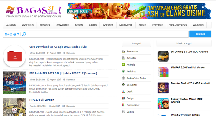Download Template BAGAS31.COM Gratis