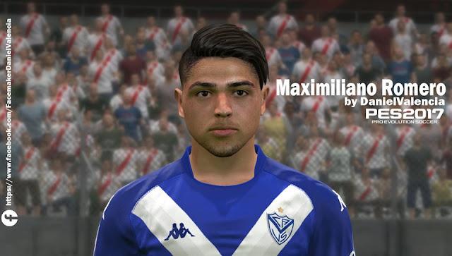 PES 2017 Maxi Romero Face by Daniel Valencia