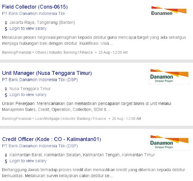 5 Lowongan Kerja BANK DANAMON Bogor 2019