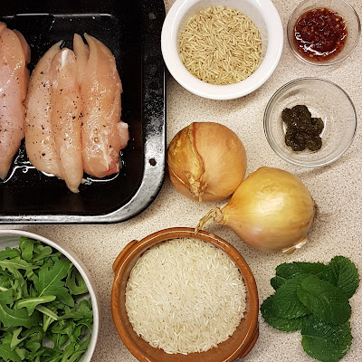 Ingredients for Roast chicken with rice salad,  Ottoenghi