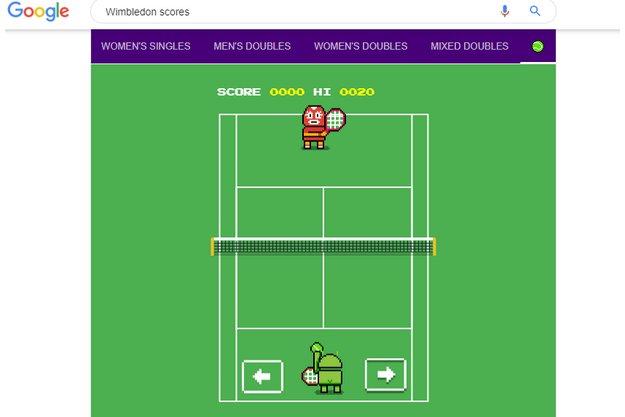 Δωρεάν κρυφό παιχνίδι τένις από την Google