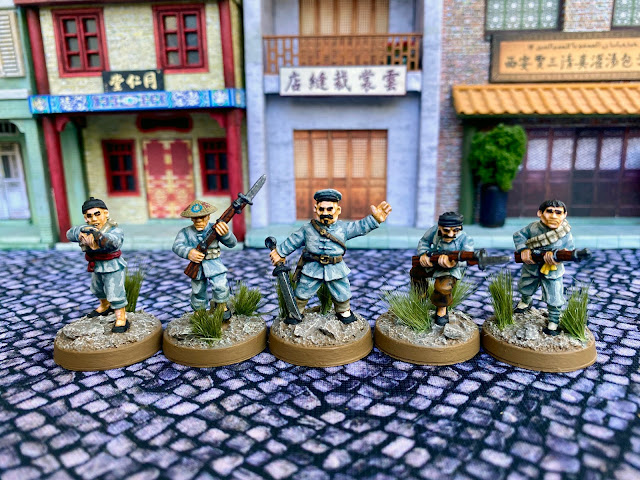 28mm Copplestone Bandits as Chinese Guerrillas for Bolt Action