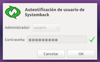 Systemback Autentificación
