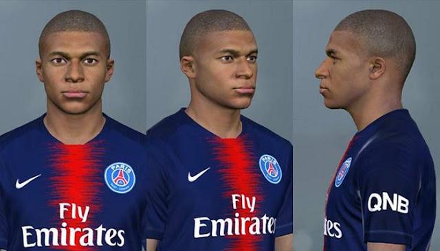 Kylian Mbappé New Face (PSG) Vol  4 FIX - PES 2017 - PATCH