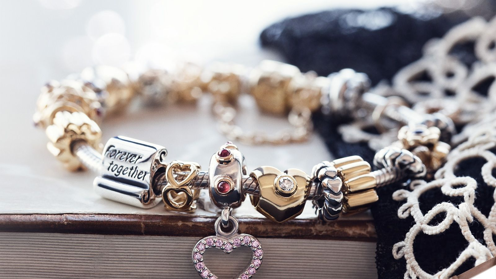Pandora Hearts Bracelet Pandora Charms