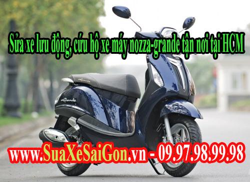 Sửa xe lưu động, cứu hộ xe máy Yamaha Grander tận nơi tại HCM
