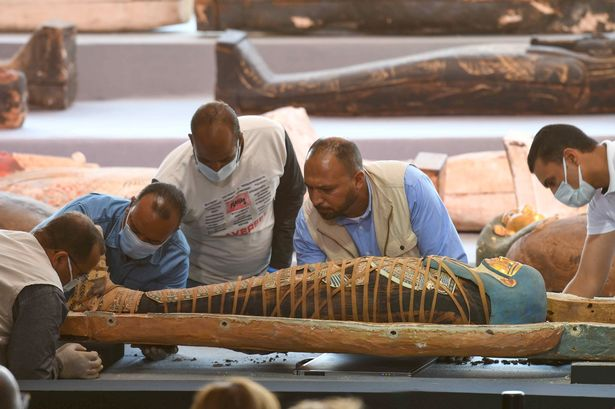 Great discovery in Egypt:  Fifty coffins decorated with excerpts of the mysterious 'Book of Dead' !