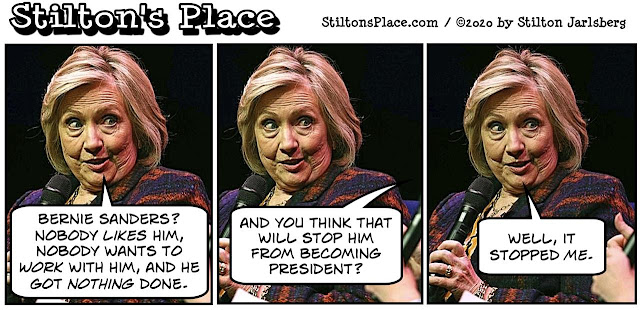 stilton's place, stilton, political, humor, conservative, cartoons, jokes, hope n' change, hillary, documentary, bernie sanders, insults, epstein