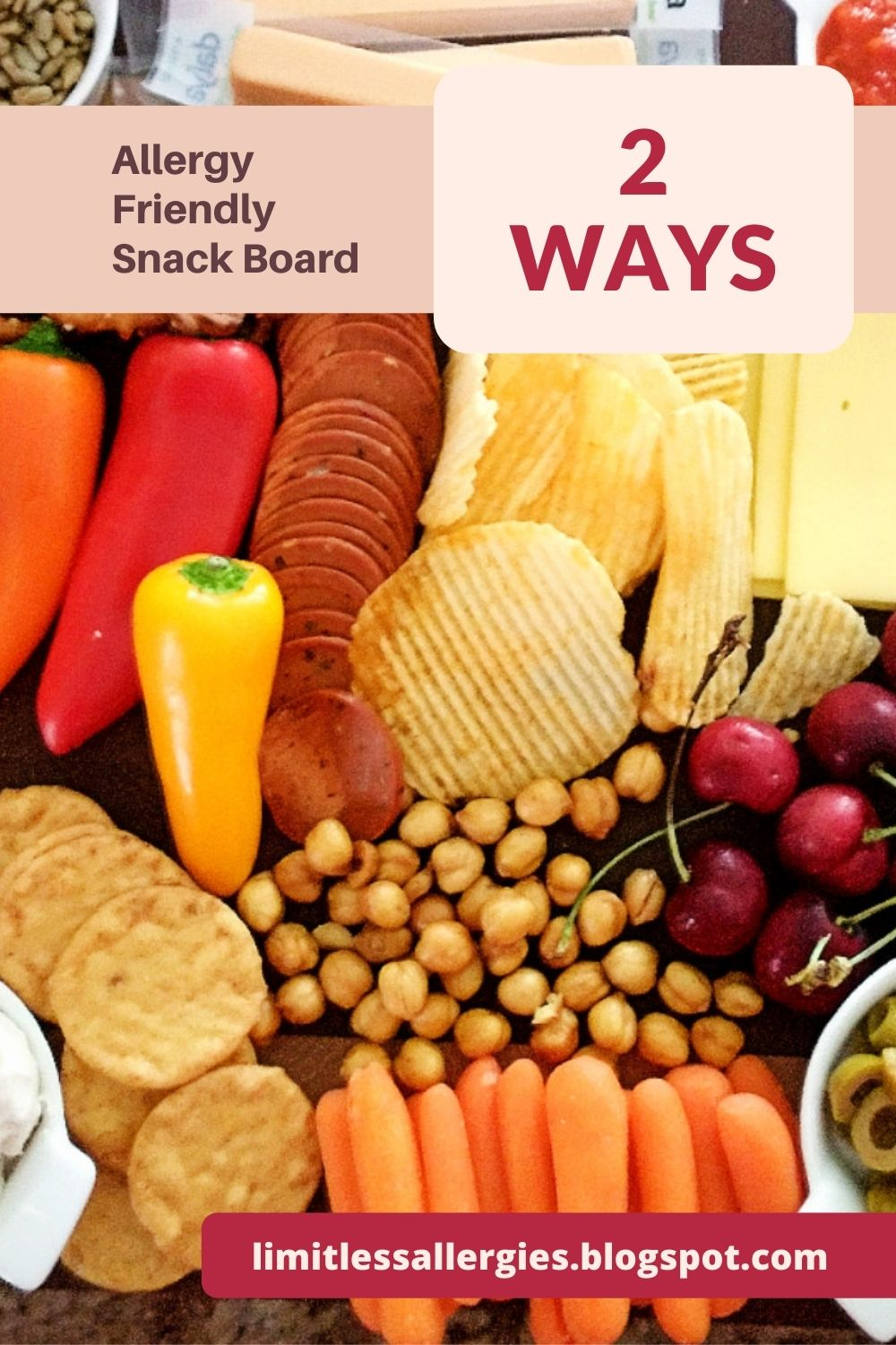 allergy friendly snackboard pin