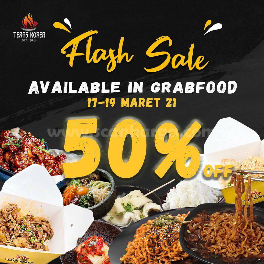 TERAS KOREA Promo Flash Sale – Diskon 50% via Grabfood