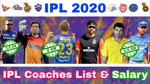 IPL 2020 Teams Coach