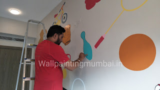 Sports Themed Wall Painting For Children's Room