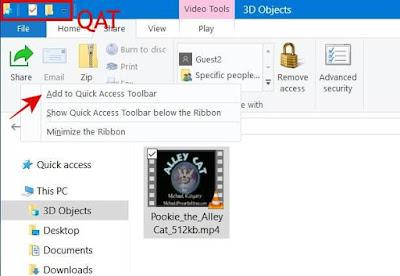 Menambah Folder pada Quick Acces