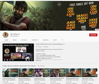 Allu Arjun youtube