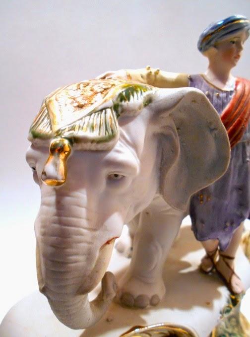 An Elephant a Day 2 0: Elephant No  100: Porcelain Clock