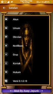 BBM MOD BLACK Gold Angelic v3.1 (BBM MOD Base 3.1.0.13 APK)
