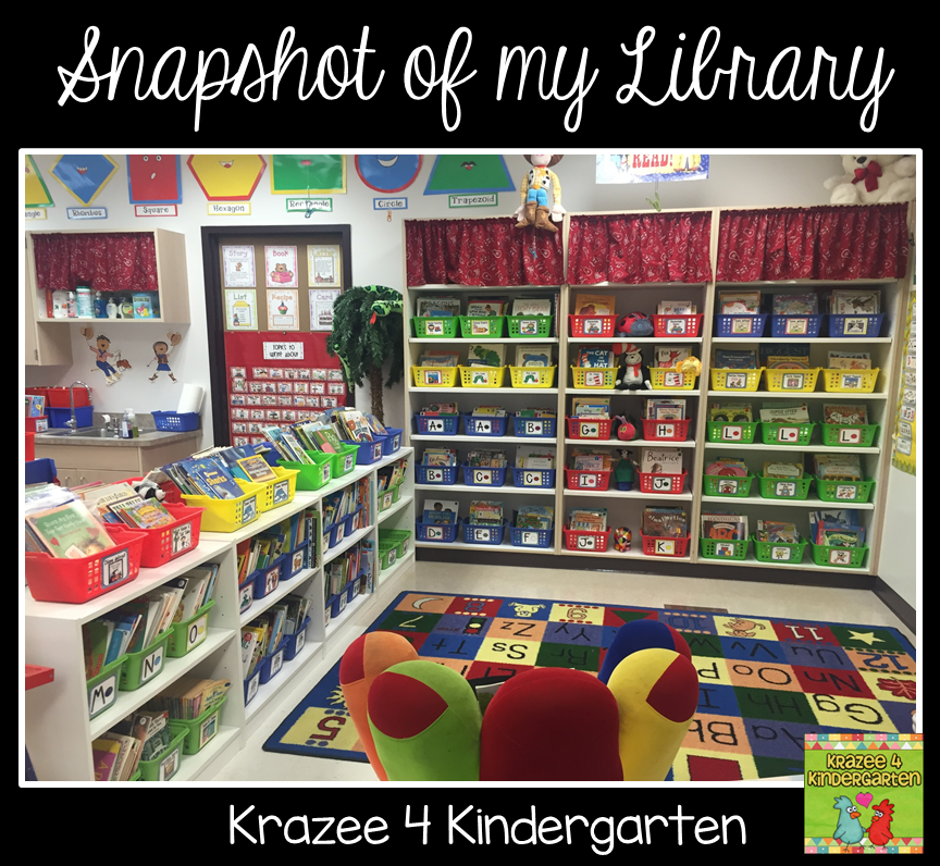 Classroom Organization Ideas For Kindergarten ~ Krazee kindergarten classroom library labels