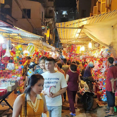 Lantern street in Luong Nhu Hoc Street.